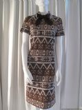 1960's Jacquard knitted geometric fairisle vintage dress *SOLD* es